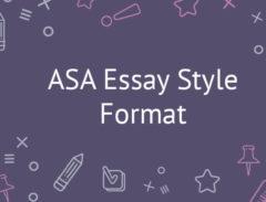 asa style paper