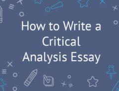 critical analysis essay
