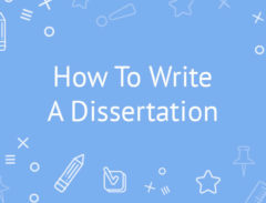 how to write a dissertation