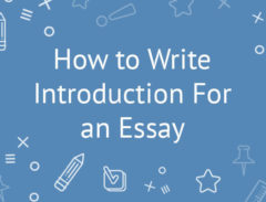 how to write introduction for an essay