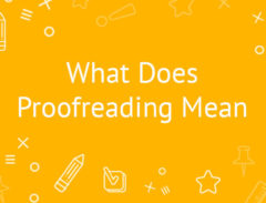 what does proofreading mean