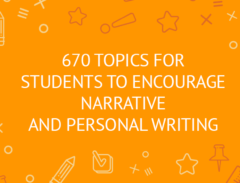 prompts for students to narrative and personal writing