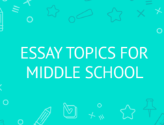 essay topics for middle school