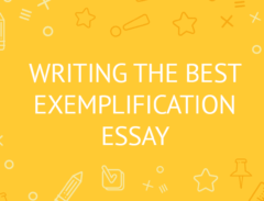 how to write exemplification essay