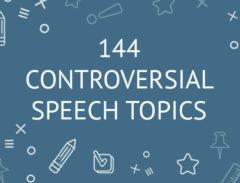 144 controversial speech topics