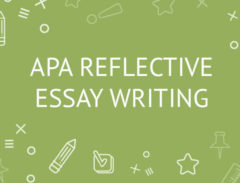 apa reflective essay writing