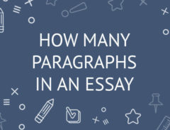 how many paragraphs in an essay