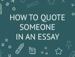 how to quote someone in an essay