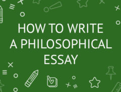 how to write a philosophical essay