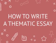 how to write a thematic essay