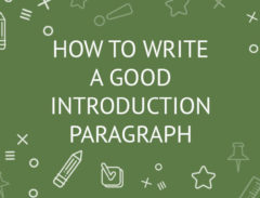 how to write an introduction paragraph