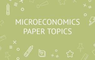 Microeconomics Paper Topics