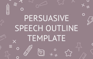Persuasive Speech Outline Template