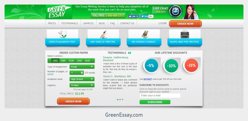 greenessay.com review
