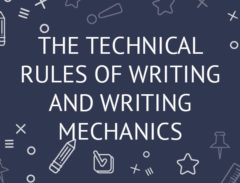 technical rules of writing