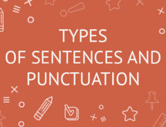 types of sentences and punctuation