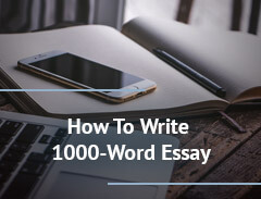 how to write 1000 word essay