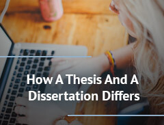 how a thesis and a dissertation differs