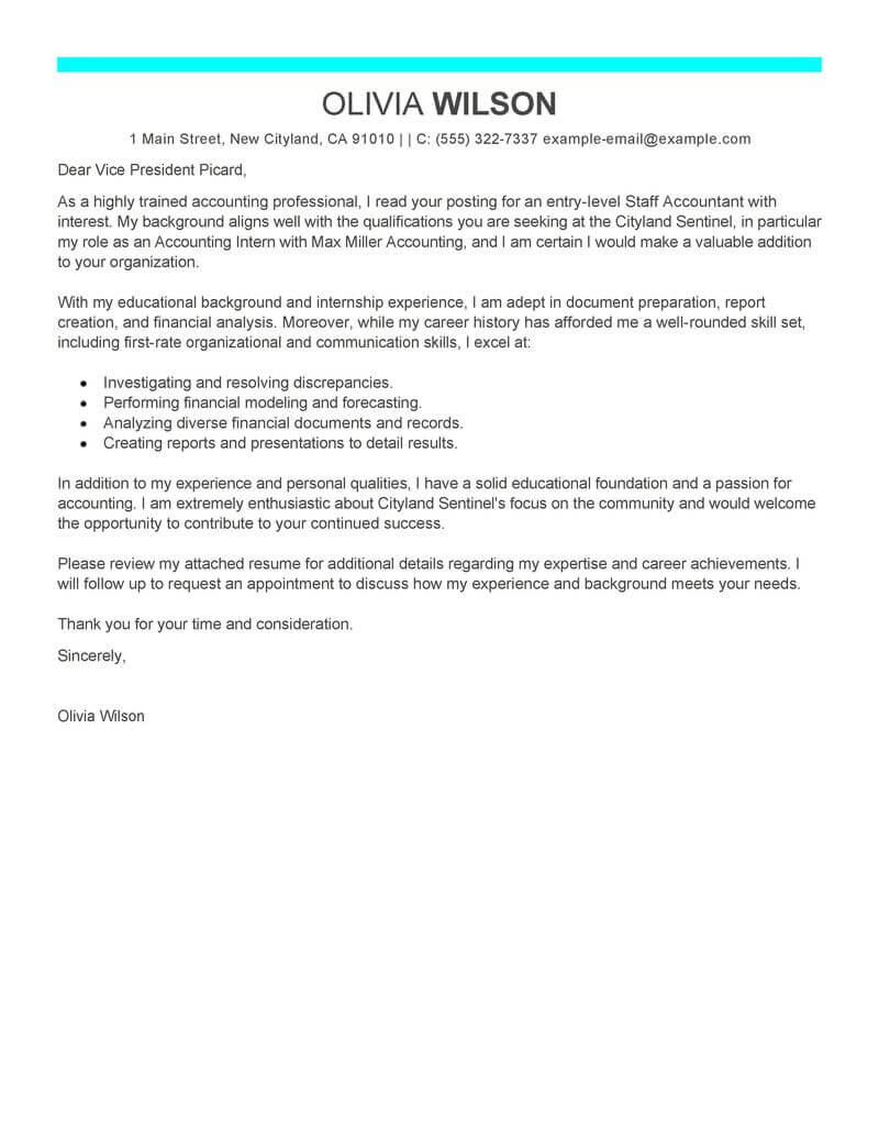 Free Staff Accountant Cover Letter Examples & Templates from Trust ...