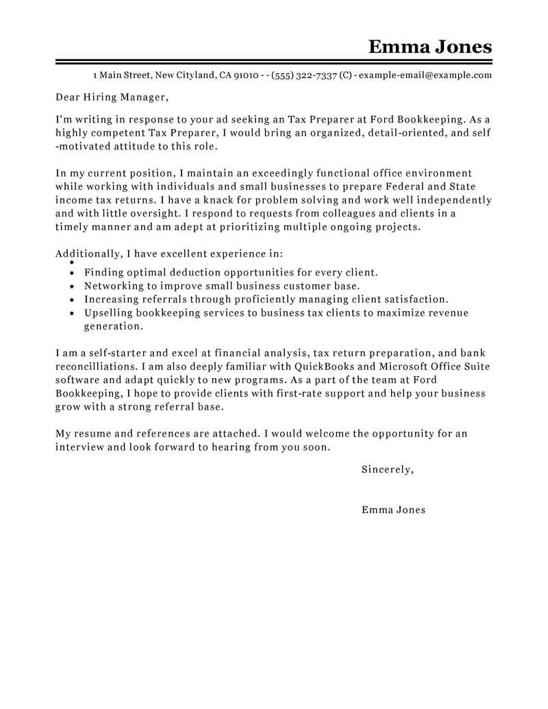 Amazing Accounting & Finance Cover Letter Examples & Templates from ...