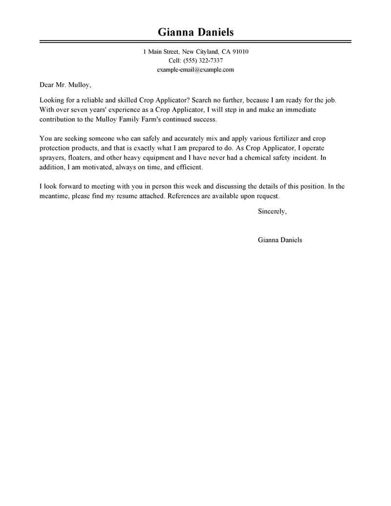 Amazing Applicator Cover Letter Examples Amp Templates From