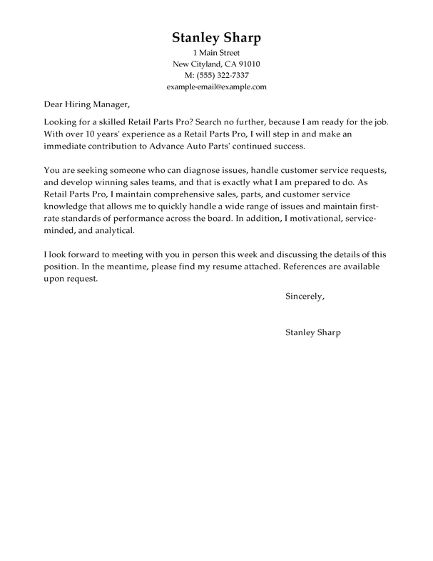 Outstanding Automotive Cover Letter Examples & Templates ...