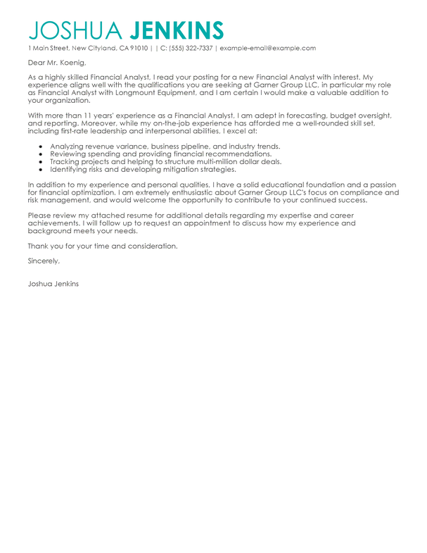 Cover Letter Business Analyst Job - Professional Business Analyst ...