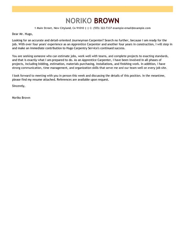 Apprentice Chef Cover Letter Sample July 2021