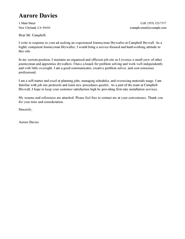 Outstanding journeymen drywallers cover letter examples templates cover letter tips for journeymen drywallers spiritdancerdesigns Image collections