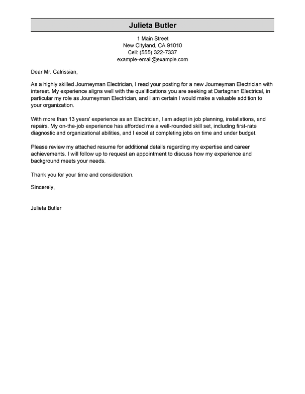 Outstanding Construction Cover Letter Examples Amp Templates