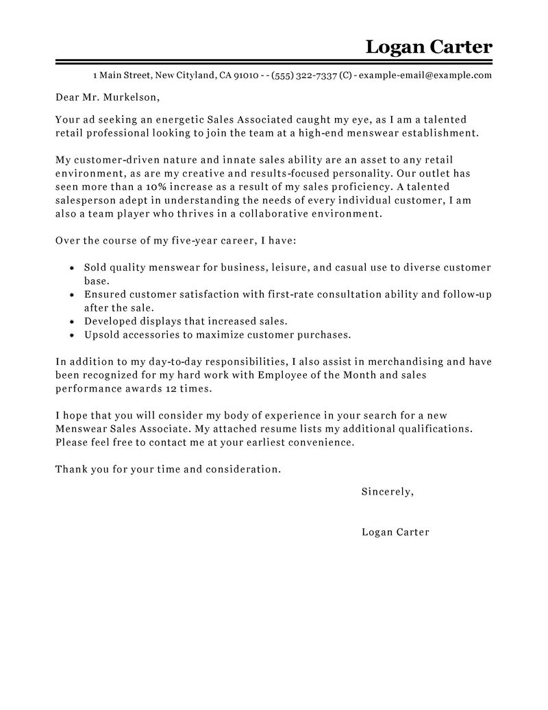 Outstanding Customer Service Cover Letter Examples