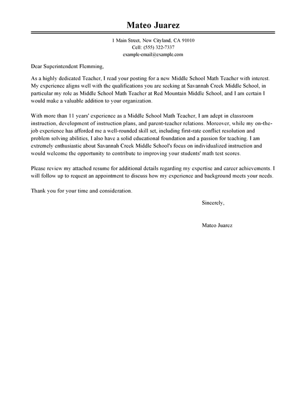 Free Education Cover Letter Examples Templates From Trust Writing