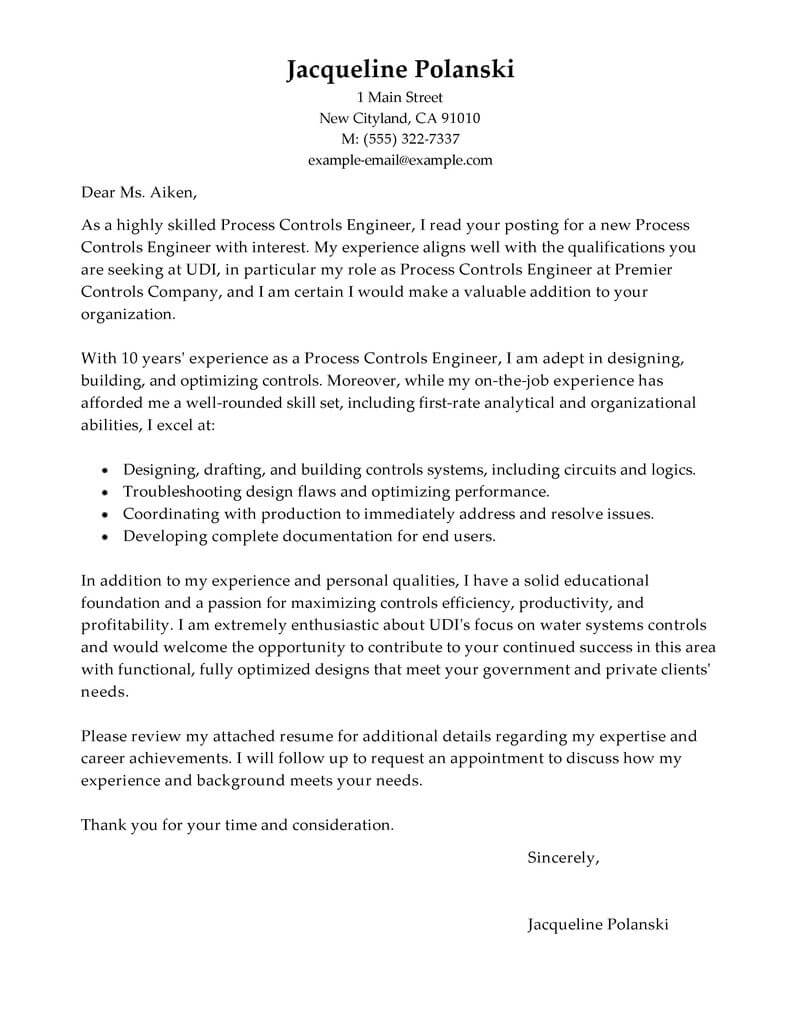 outstanding process controls engineer cover letter examples  u0026 templates from trust writing service