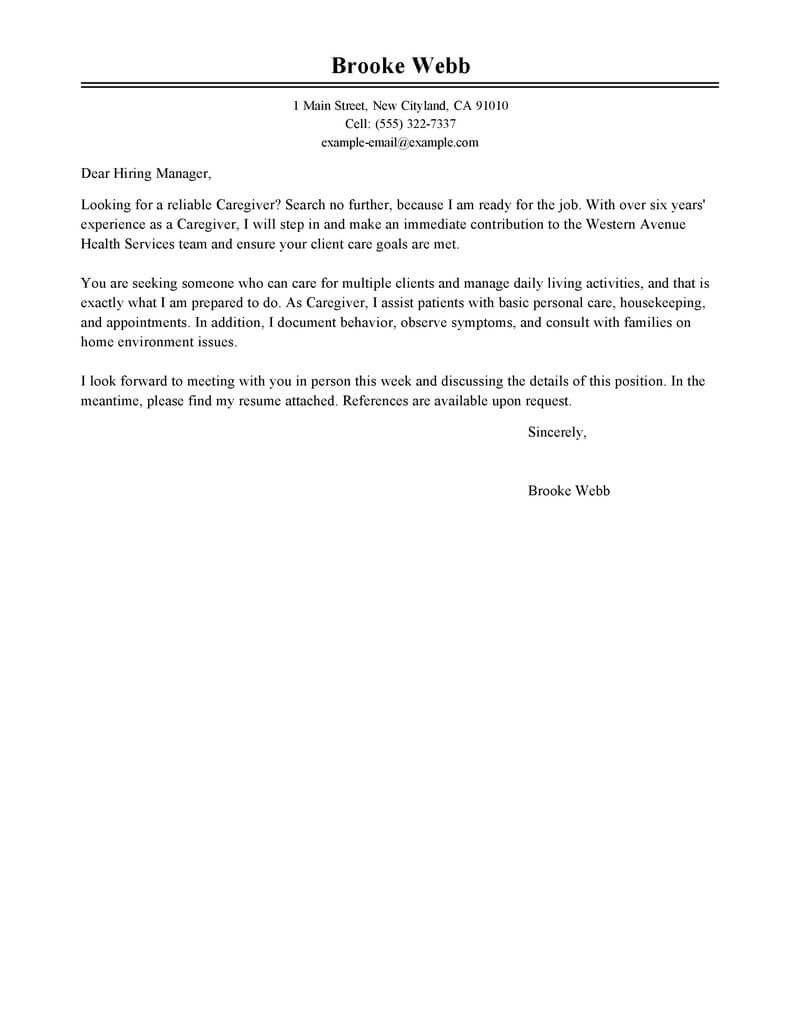 Amazing Healthcare Cover Letter Examples & Templates from ...