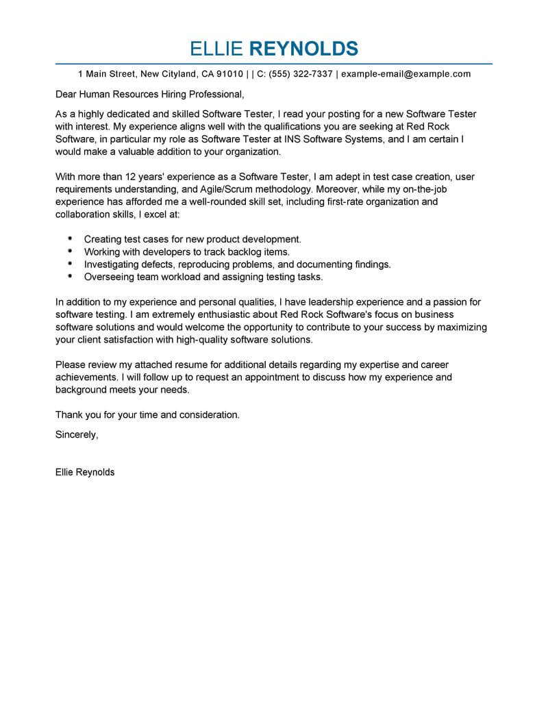Free it cover letter examples templates from trust writing service software testing cover letter examples spiritdancerdesigns Images