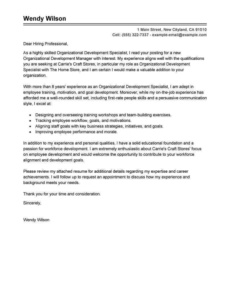 Amazing Shift Leader Cover Letter Examples & Templates from ...