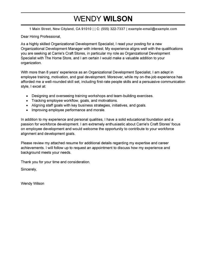 Amazing Management Cover Letter Examples & Templates from ...