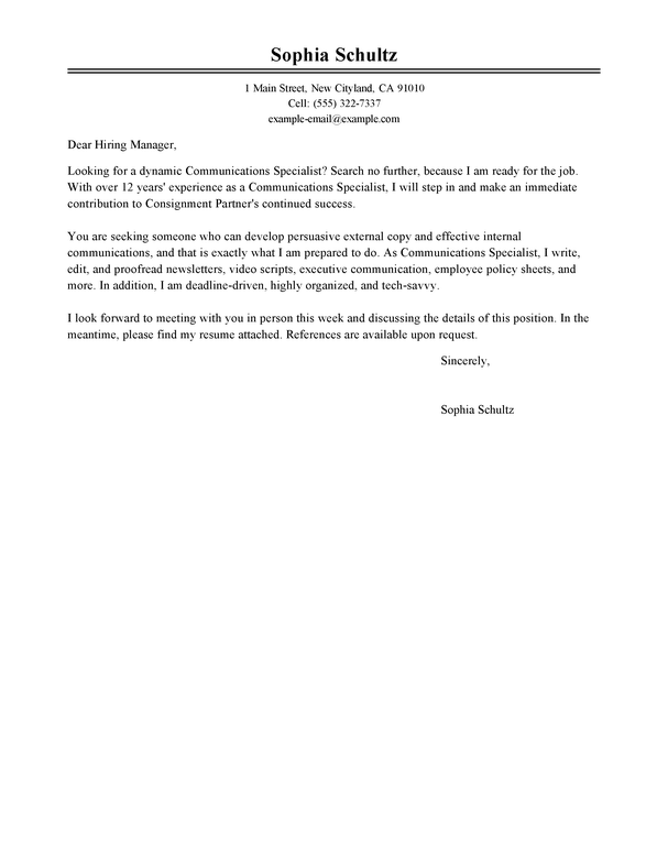 Outstanding Marketing Cover Letter Examples Templates From Trust
