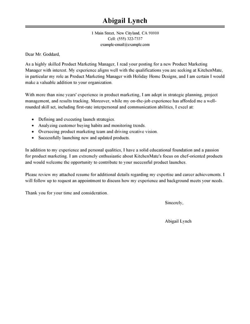 Marvelous Create My Cover Letter