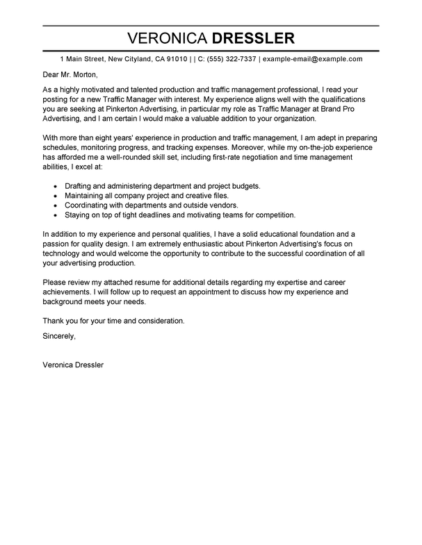 general manager cover letter example - Anta.expocoaching.co