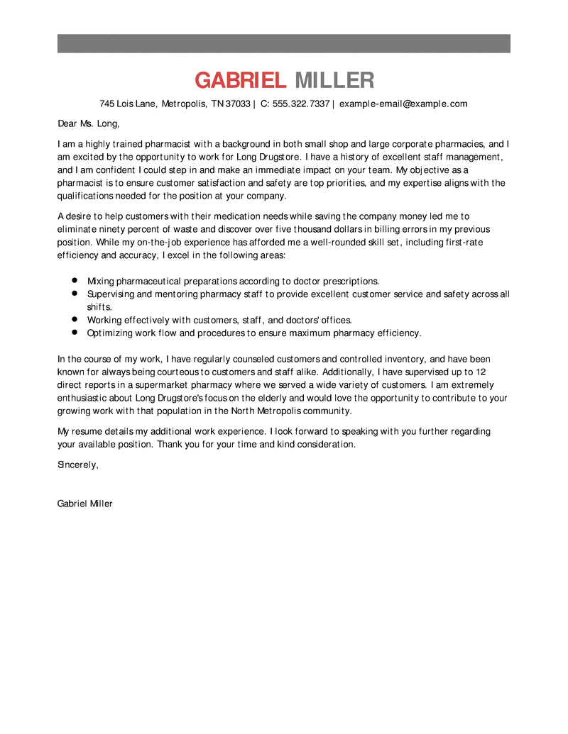 Amazing Medical Cover Letter Examples Templates From Trust