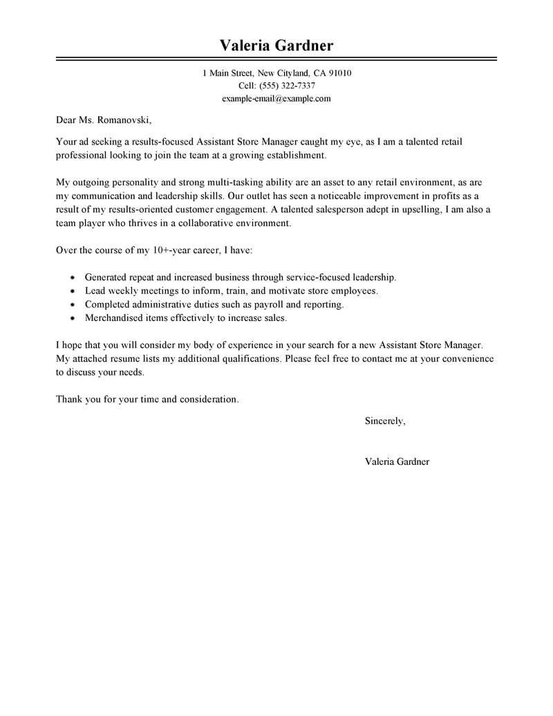 Outstanding Retail Cover Letter Examples & Templates from ...
