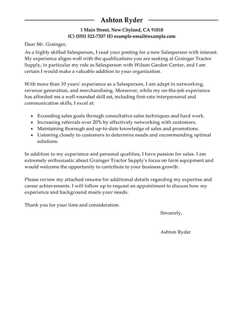 Outstanding Retail Cover Letter Examples & Templates from Trust ...