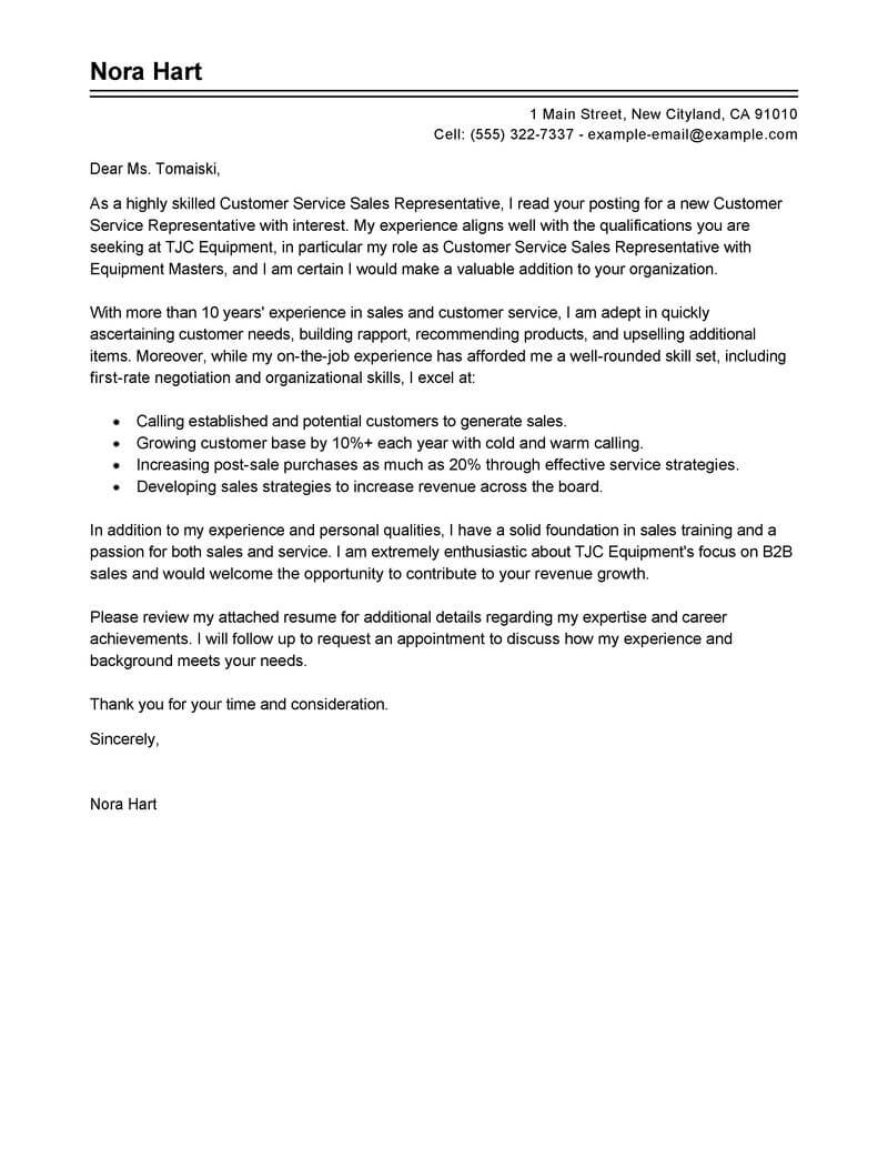 Cover Letter Customer Service Representative from eliteessaywriters.com