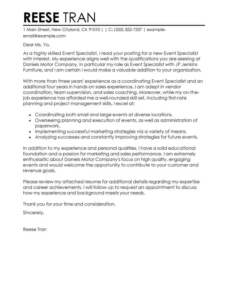 amazing sales cover letter examples  u0026 templates from our
