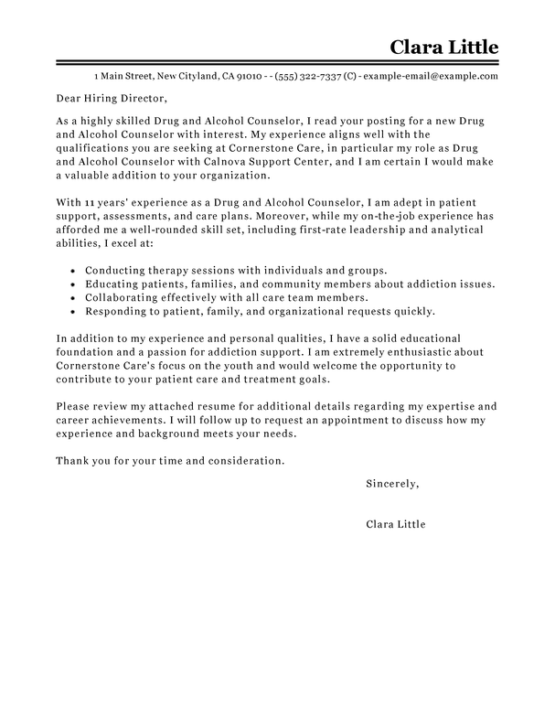 free social services cover letter examples  u0026 templates