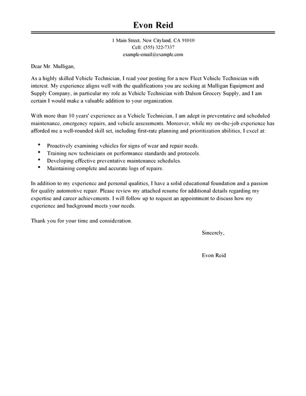 Amazing Transportation Cover Letter Examples & Templates from Trust ...