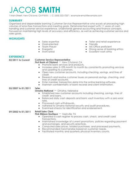70 Outstanding Accounting Amp Finance Resume Examples