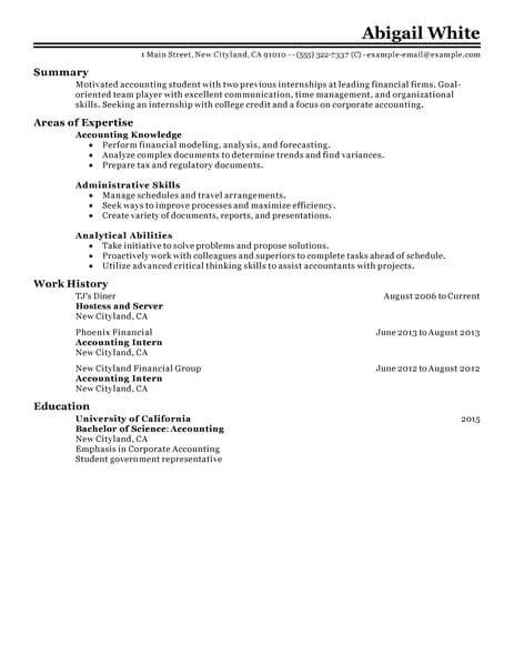70 Outstanding Accounting & Finance Resume Examples & Templates from ...