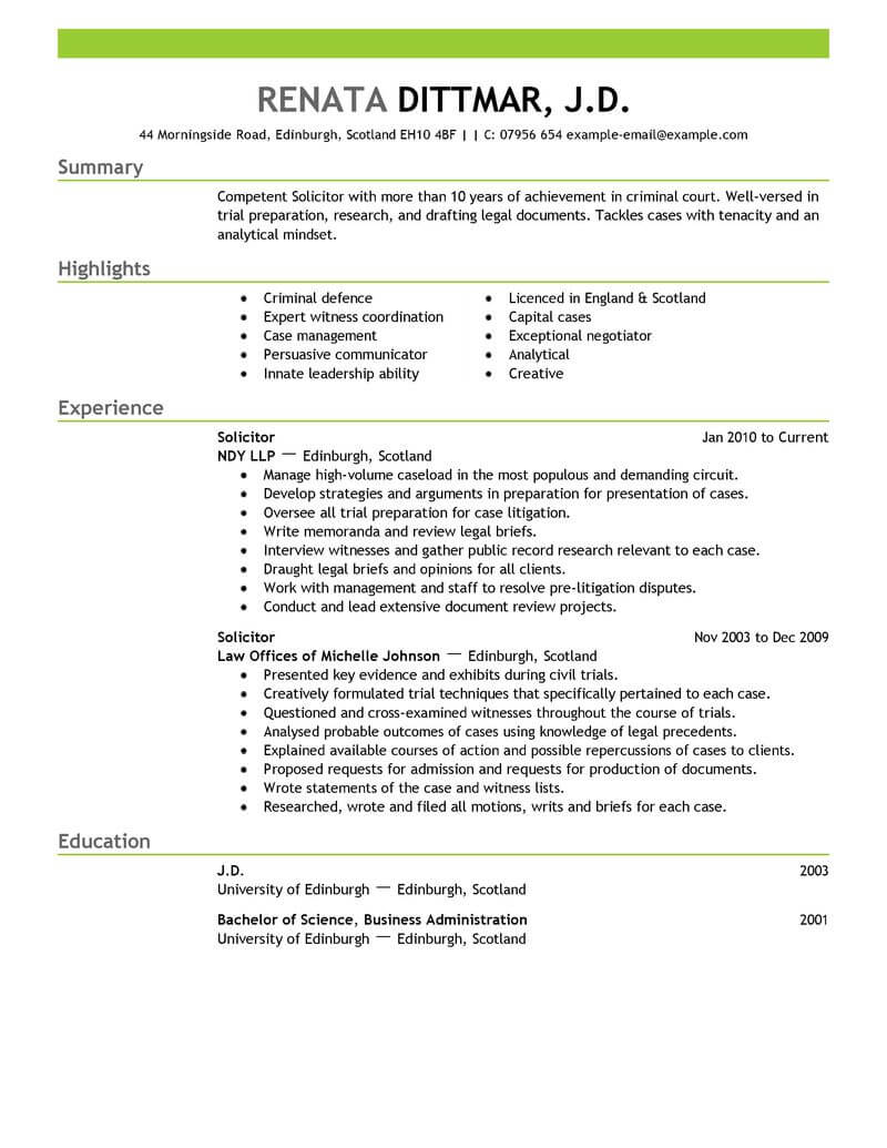 13 Amazing Law Resume Examples & Templates from Trust Writing Service